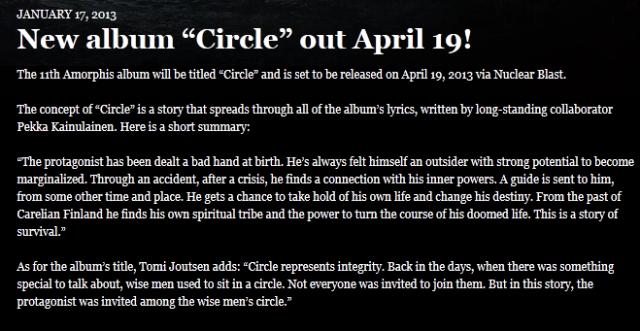 Amorphis Circle